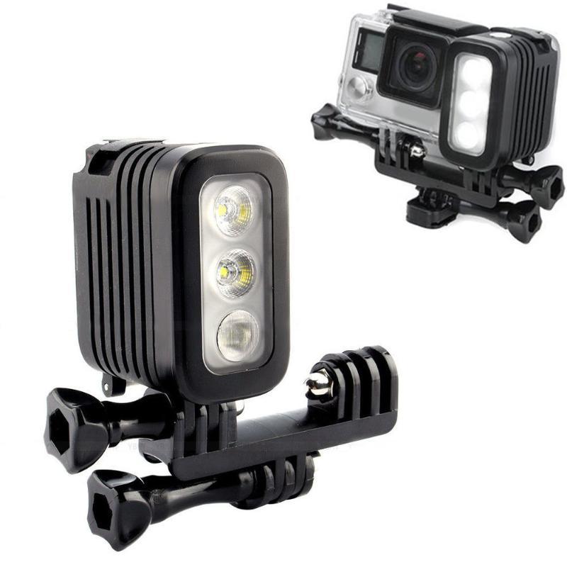 LED étanche photographie Flash lumière LED photographique Dimmable lumière caméra photographie éclairage lampe pour Gopro caméra Studio