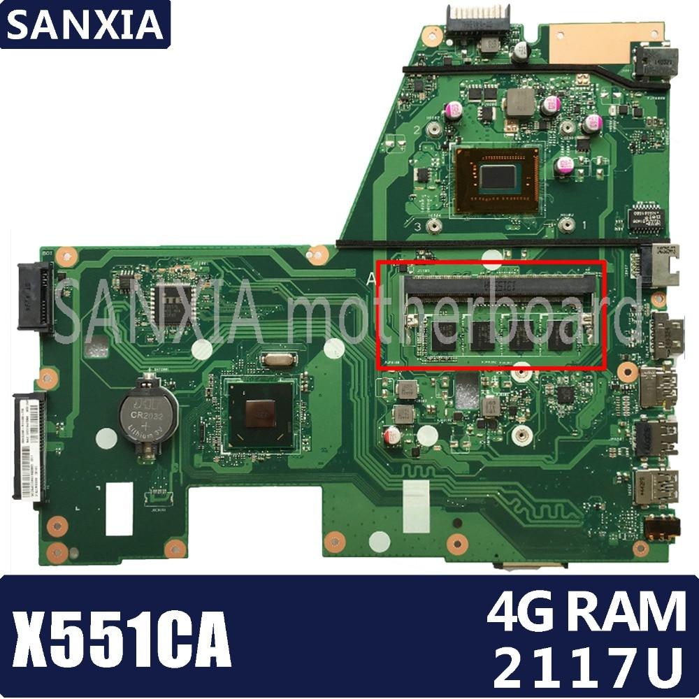 KEFU X551CA Laptop motherboard for ASUS X551CA X551CAP X551C X551 F551C F551CA Test original mainboard 2117U 4G RAM 1xSlot kefu x551ca motherboard for asus x551ca laptop motherboard x551ca mainboard rev2 2 i3 cpu 100% tested freeshipping