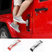 SHINEKA Metal Door Hinge Foot Plate Climbing Kit Door Step Tool For Jeep Wrangler JK 2007