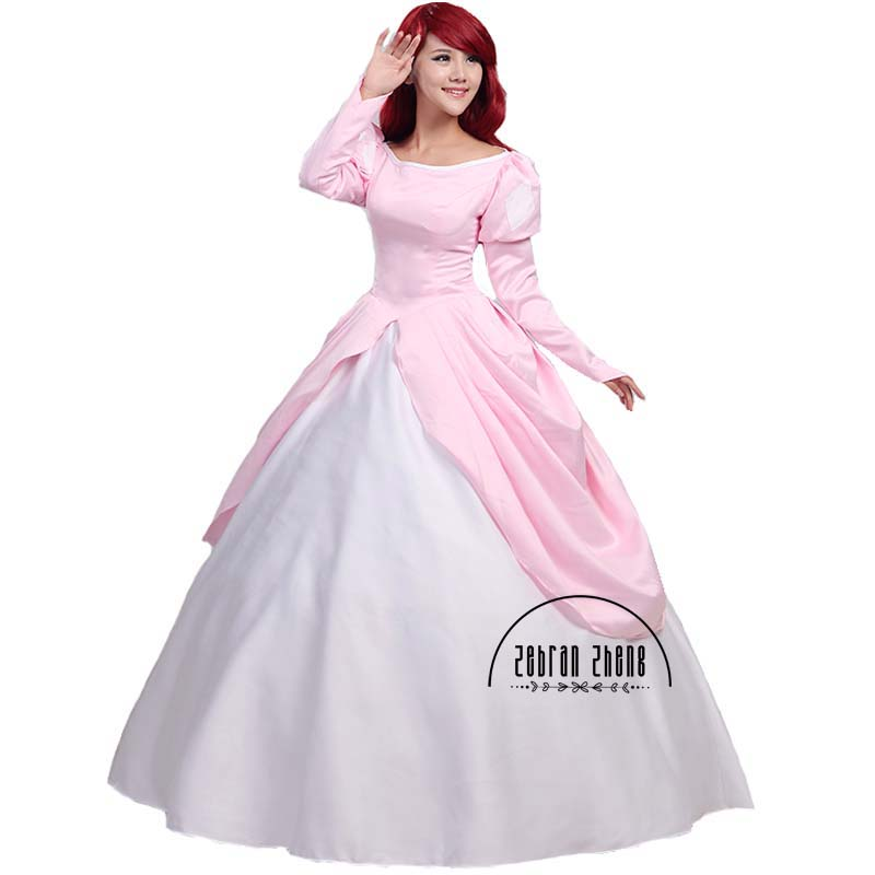 The Little Mermaid Princess Ariel Pink Dress Cosplay Kostum Untuk - Kostum karnival - Foto 3