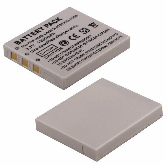 1 cái 1200 mAh NP--40N Pin cho BENQ DLI-102 FUJIFILM NP--40N KODAK KLIC-7005 PENTAX D-LI8-Li85 cho RICOH SAMSUNG