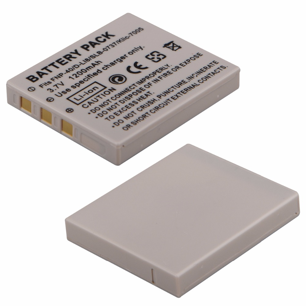 1pc 1200mAh NP-40 NP-40N Battery for BENQ DLI-102 FUJIFILM NP-40 NP-40N KODAK KLIC-7005 PENTAX D-LI8 D-Li85 for RICOH SAMSUNG