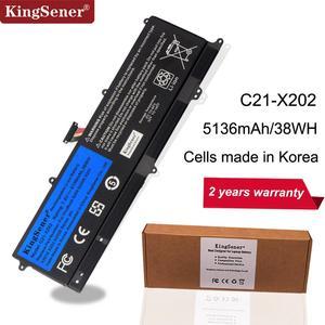 KingSener C21-X202 Laptop Battery for ASUS VivoBook S200 S200E X201 X201E X202 X202E S200E-CT209H S200E-CT182H S200E-CT1 5136mAh(China)