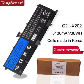 цены KingSener C21-X202 Laptop Battery for ASUS VivoBook S200 S200E X201 X201E X202 X202E S200E-CT209H S200E-CT182H S200E-CT1 5136mAh