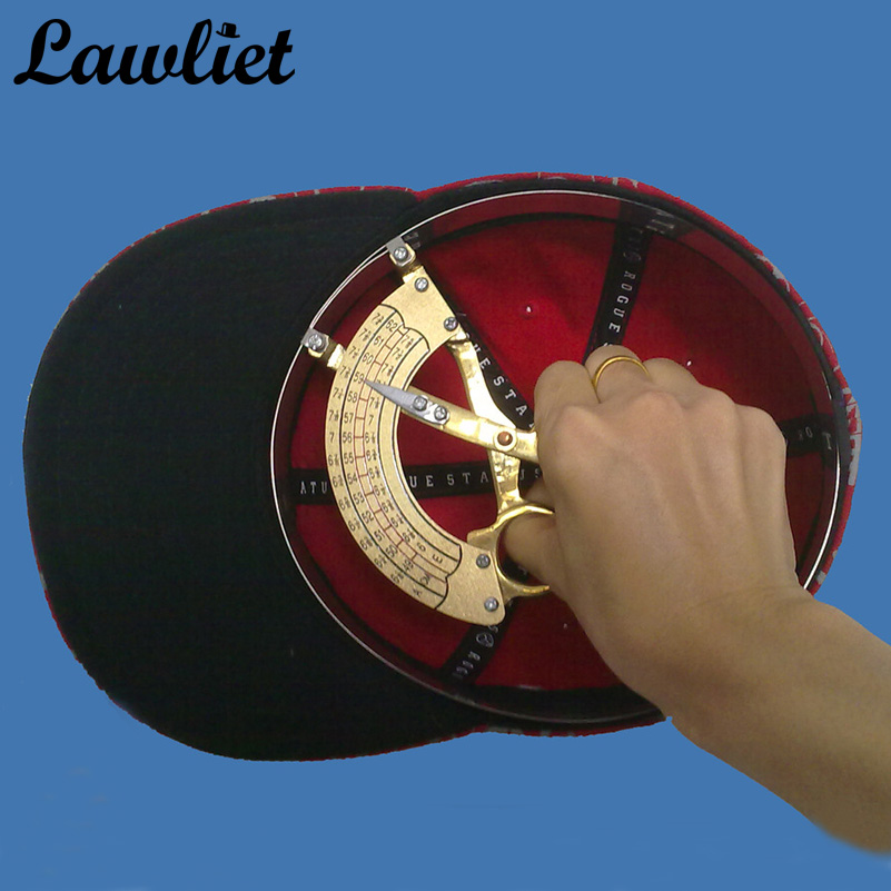Scissor Type Ring Compass Cap Hat Size Measuring Tool Hand Held Millinery Sizer B019 tama tjr7 hat tambourine jingle ring