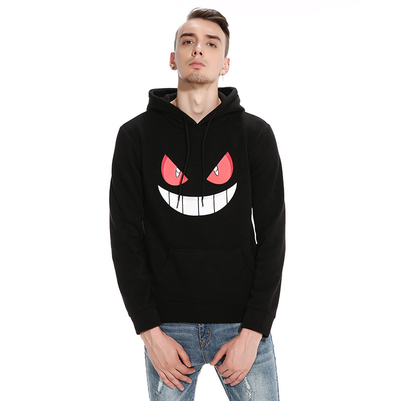 ief.G.S Mens Hoodies Sweatshirts 2017 New Winter Mens Halloween Pumpkin Face Printing Head Sets Leisure Hoodies Sweatshirts