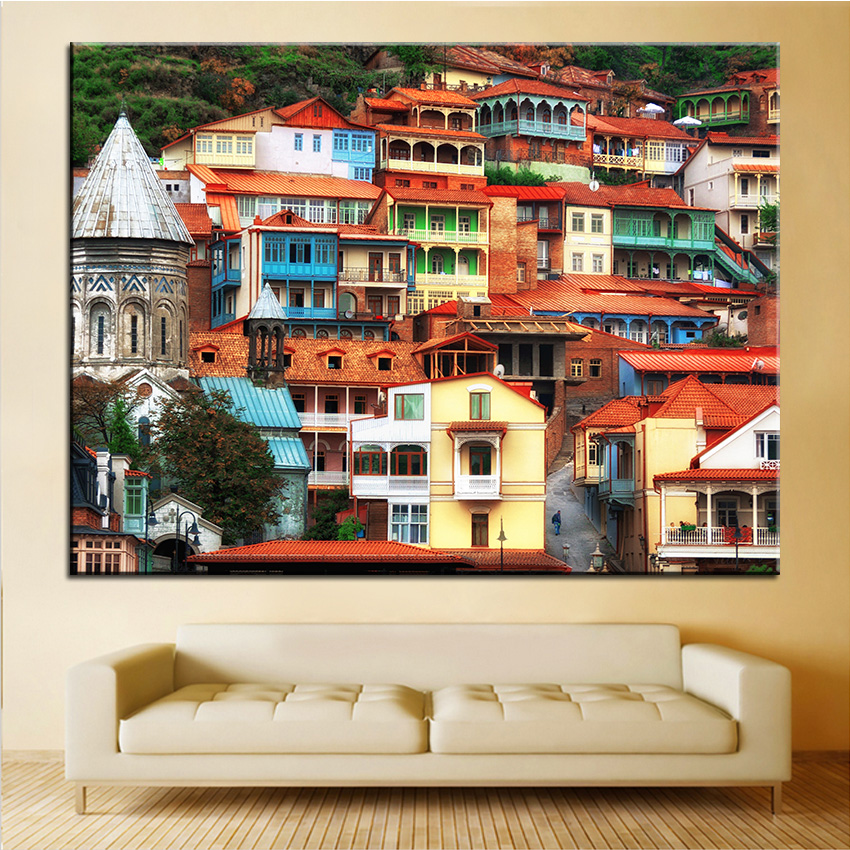 Large Size Printing Oil Painting Georgia Tbilisi Wall