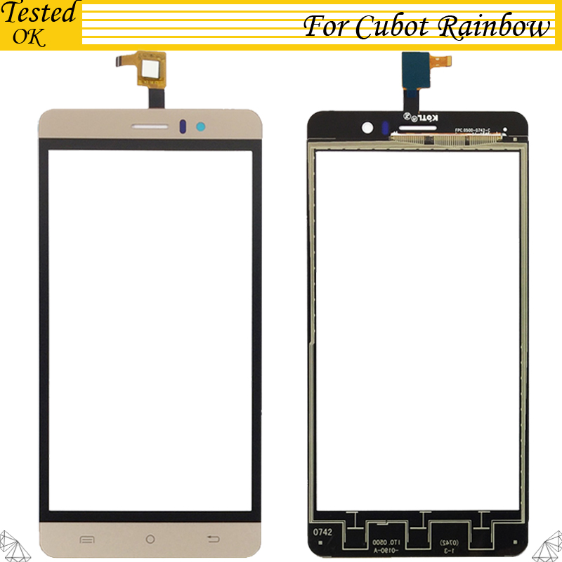 5.0 inch Touchscreen For Cubot Rainbow Touch Screen Digitizer Sensor Front Glass Touch Panel Lens Replacement5.0 inch Touchscreen For Cubot Rainbow Touch Screen Digitizer Sensor Front Glass Touch Panel Lens Replacement