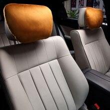 Car Headrest Biological Velvet Seat Head Neck Pillow Auto Seat Massage Cushion for BMW Volkswagen Volvo Honda Mazda Car Styling