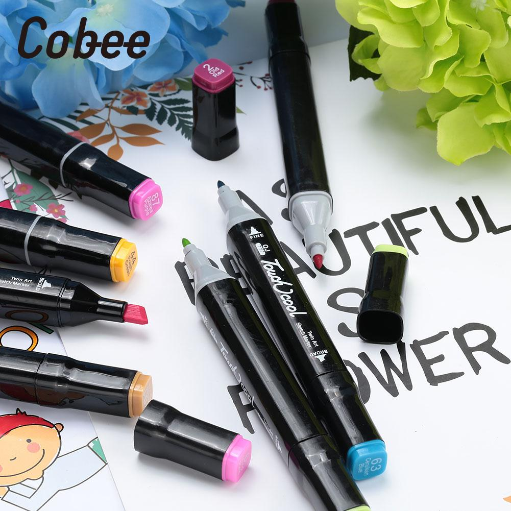 Marker Pen Watercolor Pen Painting Pen 36pcs Children Oily Graffiti Colorful Double Head watercolor pen 30 colors marker pen stationery painting pen double head a set