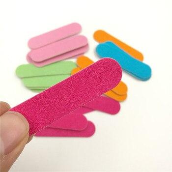 10 unids/set Mini desechable de uñas Ultra-delgada de lima de uñas Filer Emery Board del dedo del pie pedicura manicura herramientas