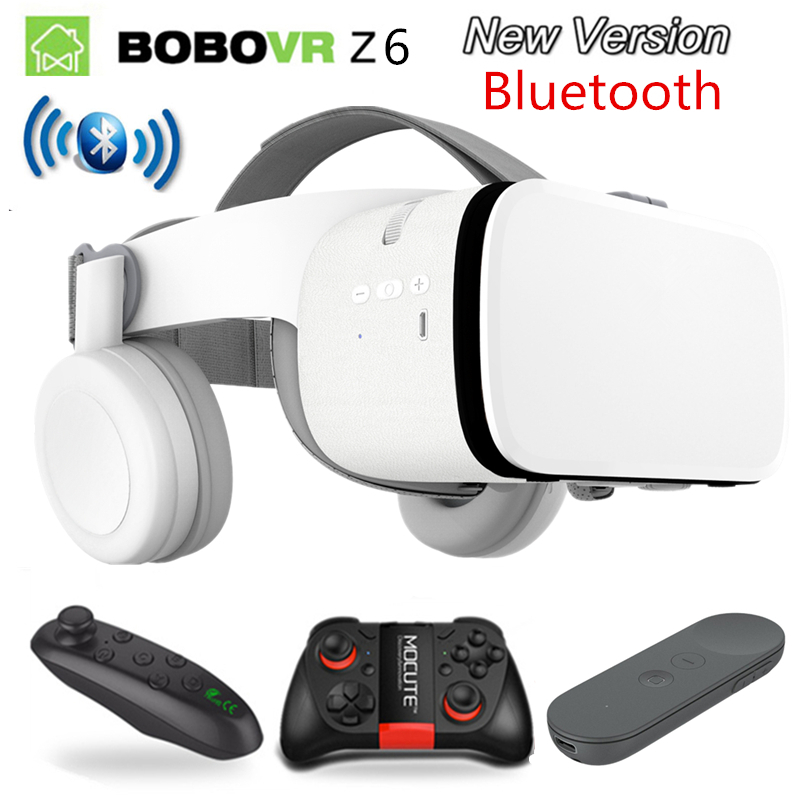 2019 Newest Bobo vr Z6 VR glasses Wireless Bluetooth Earphone VR goggles Android IOS Remote Reality VR 3D cardboard Glasses in 3D Glasses Virtual Reality Glasses from Consumer Electronics