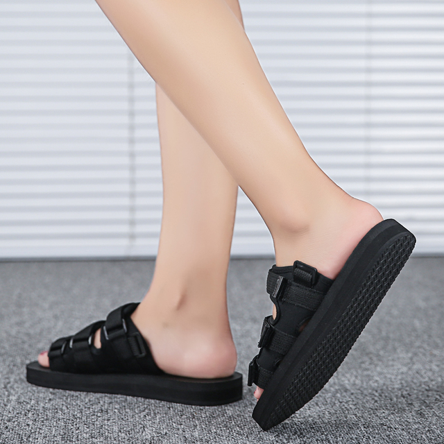 Men Sandals for Man Summer Sandals Beach Male Slipper Men's Casual Shoe Man's Flip Flops Slippers Unisex Flat Large Size 35-46 Sandals