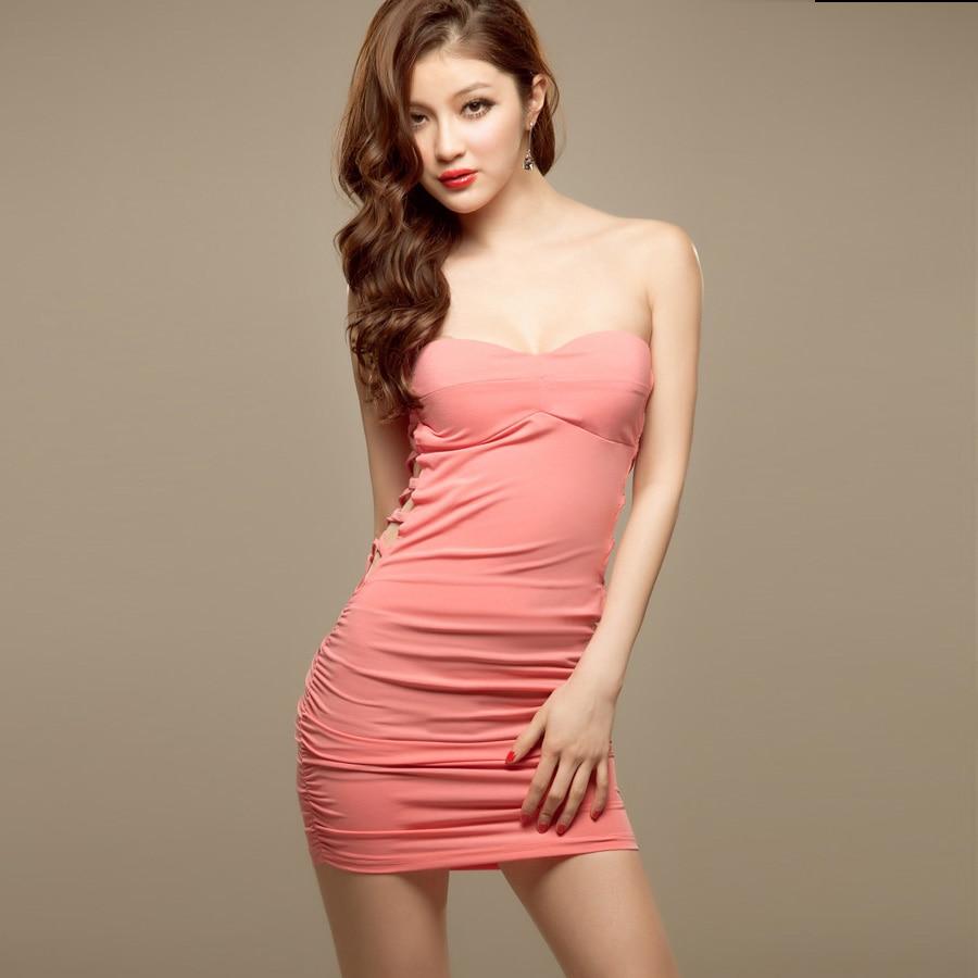 yarn spring sexy women's tube top tight slim hip skirt slim tube top