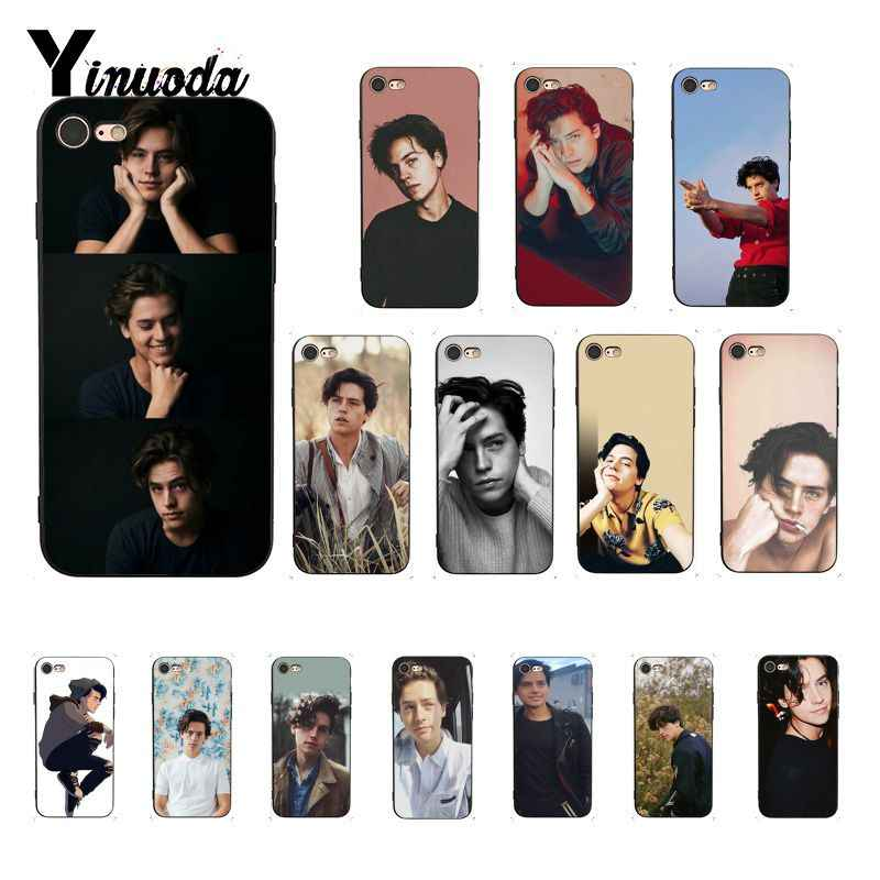 Yinuoda riverdale cole sprouse Jughead Jones Cover Black Soft Shell Phone Case for iPhone 8 7 6 6S 6Plus 5 5S SE XR X XS MAX