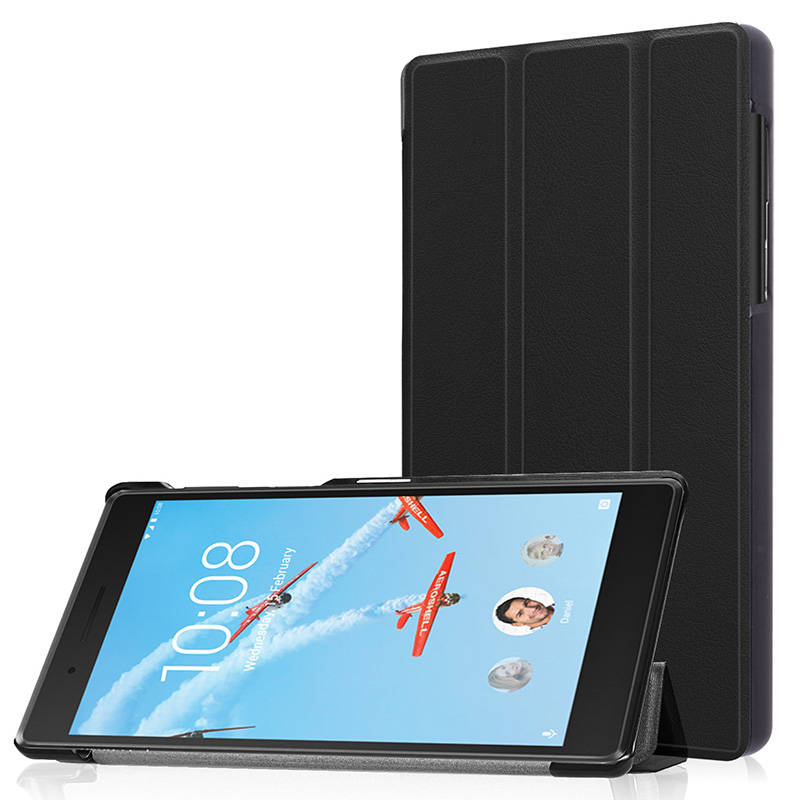 PU Leather <font><b>Case</b></font> <font><b>For</b></font> <font><b>Lenovo</b></font> Tab7 <font><b>Tab</b></font> <font><b>7</b></font> TB-7504f TB-<font><b>7504x</b></font>/n Slim Hard Shell <font><b>Tablet</b></font> Cover <font><b>For</b></font> Tab4 <font><b>Tab</b></font> 4 <font><b>7</b></font> TB-7504 <font><b>Case</b></font> image