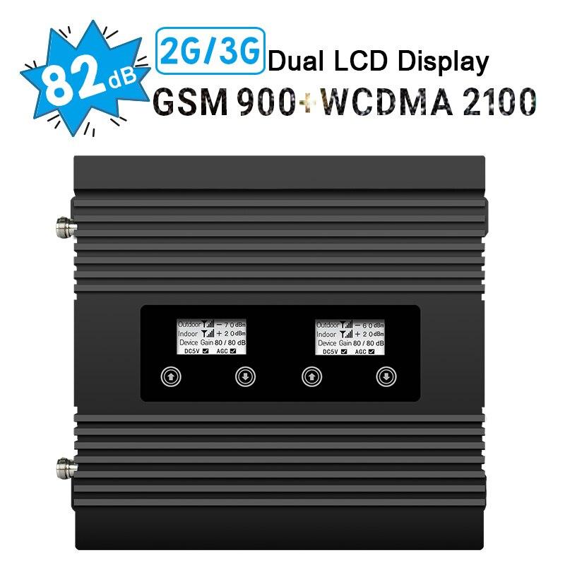 Répétnet 3G WCDMA 2100 MHz GSM 900 Mhz double bande téléphone portable amplificateur de Signal cellulaire GSM 900 2100 UMTS amplificateur de répéteur de Signal///