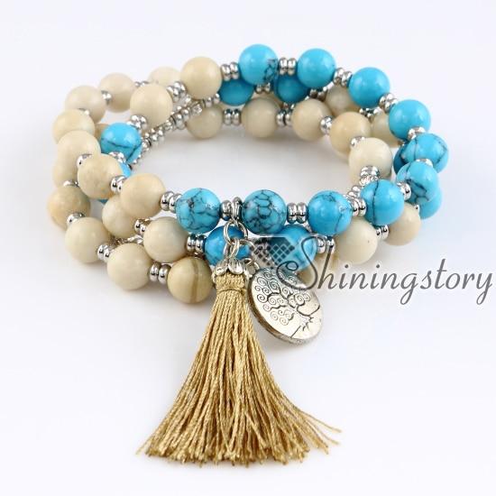 54 mala bracelet mala perles vente en gros japa malas méditation bijoux prière perles bracelet prière perles bracelet