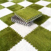 9pcs home room decoration soft carpet puzzle mats non toxic shaggy rug eva foam floor mat baby enviromental interlocking tiles