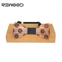 Rewood Fashion Designer Wedding Bowtie High Quality Business Wooden Bow Ties For Men Del Lazo