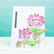 Eastshape Lotus Flowers Dies Clear Stamps and Cutting for DIY Scrapbooking Stamping Die Cuts Paper Cards Craft New