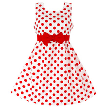 AmzBarley Baby Girls Dress sleeveless Dot Bow knot Chirldren Cotton Casual clothes Party Birthday Kids summer Clothing