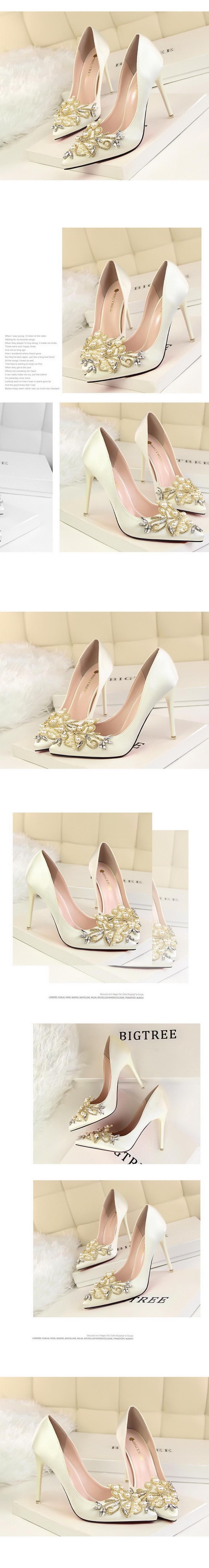 Detail Feedback Questions about Women Pumps High Heel 2019 Bridal ... 187d59da7250