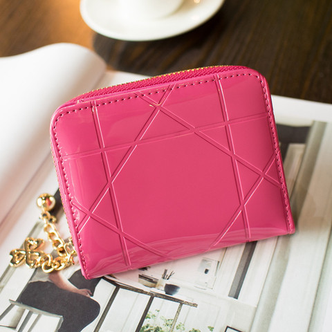 Patent Leather Womens Wallets Female Small Wallets Mini Zipper Wallet for Women Short Coin Purse Holders Clutch Girl Money Bag Islamabad