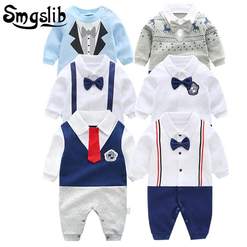 100% Wahr 0-12 Mt Neue Geboren Baby Kleidung Gut Aussehend Gentleman Kleidung Set Säuglings Bogen Krawatte Kostüm Baumwolle Baby Overall Baby Junge Mädchen Kleidung