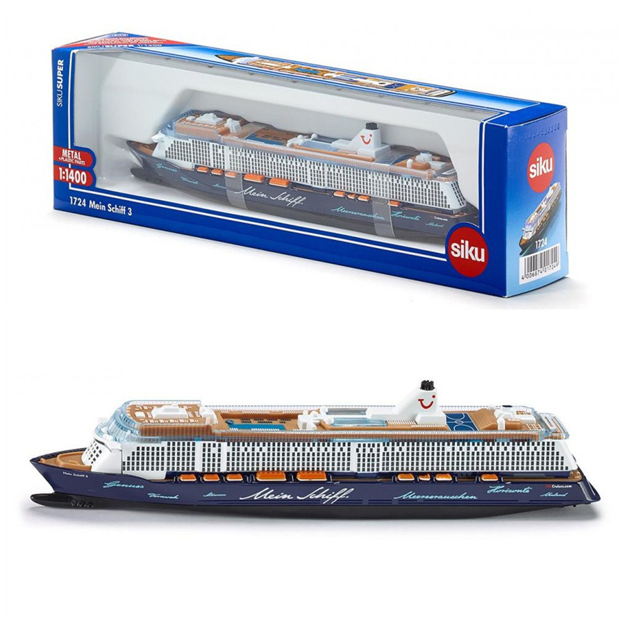 Free Shipping/Siku 1724 Toy/Diecast Metal Model/1:1400 Scale/Mein Schiff 3 Luxury Cruise Civilian Ship/Collection/Gift For Kid