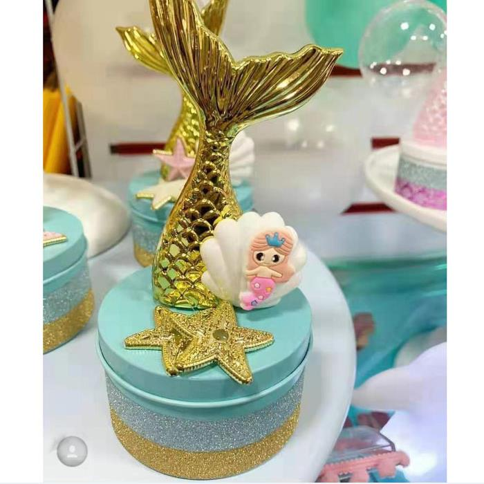 12PCS/20PCS/36PCS Mermaid Party Gift Boxes Under The Sea DIY Plastic Candy Boxes Little Mermaid Birthday Party Decor Kids Favors