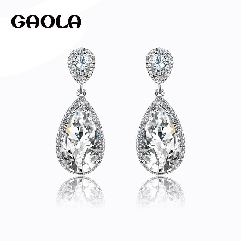ef646641f2054 2016 الأزياء عالية الجودة الفضة مطلي الراين الهندي نمط اكسسوارات قطرة الماء  حلق مجوهرات الزفاف GLE1169