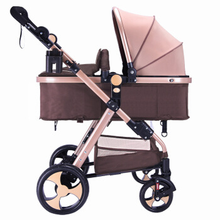 Lightweight portable baby stroller can sit reclining folding shock absorber boarding 3 in 1 baby child stroller kid car seat
