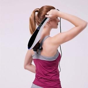 Image 3 - Elektrische Terug Stimulators Percussie Deep Tissue Handheld voor Hals Body Schouders Been Voet Pijnbestrijding Relax Shiatsu Infrarood
