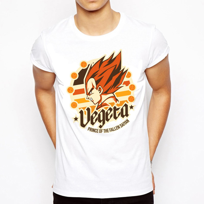 2017 Dragon Ball Z T Shirt for Men Dragon Ball Vegeta Goku Super Saiyan Fitness TShirt DragonBall t-shirt