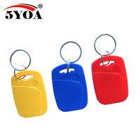 10pcs IC+ID UID Rewritable Composite Key Tags Keyfob Dual Chip Frequency RFID 125KHZ T5577 EM4305+13.56MHZ Changeable Writable