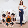 Velvet Winter Maternity Leggings Pants Clothes for Pregnant Women Warm Knitted High Waist Suspender Pregnancy Trousers B147