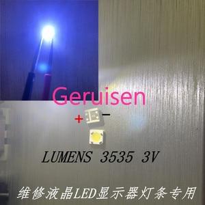 Image 3 - LUMENS LED Backlight 1W 3V 3535 3537 Cool white LCD Backlight for TV For SAMSUNG LED LCD Backlight TV Application 4D