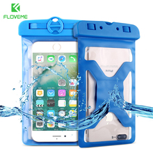 FLOVEME Waterproof Bag Case For iPhone X 8 7 6 Summer Underwater Swimming Clear Pouch For iPhone SE 5 5S Xiaomi Smartphone Cases
