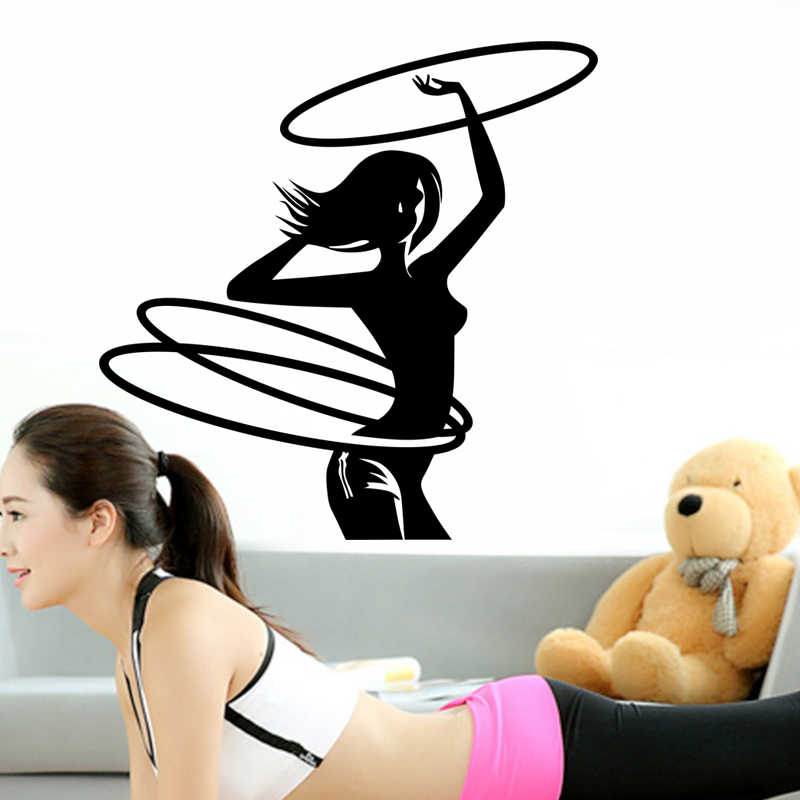Dctal Car Gym Girl Sticker Fitness Club Crossfit Decal Body-building Posters Vinyl Wall Decals Parede Decor Gym Sticker