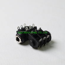 10pcs 1/4 Cliff Phone Jack 6.35 6pin Headphone Audio Tube Amp Guitar Stereo 10pcs 2 5mm phone jack 4 contacts 4 conductors trrs audio stereo socket through hole right angle solder pcb