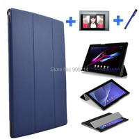 New Folio Stand Design Cover PU Leather Case For Sony Xperia Tablet Z2 Screen Protector Pen