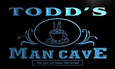 x0088-tm Todds Man Cave Coffee House Custom Personalized Name Neon Sign Wholesale Dropshipping On/Off Switch 7 Colors DHL