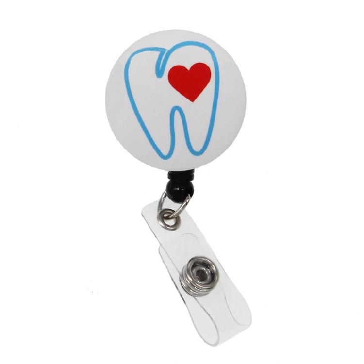 Heavy Duty Id Reel- IDRT025 Retractable Id Badge Reel Id Badge Holder RT Superpower Id Reel Respiratory Therapist Id Badge Reel