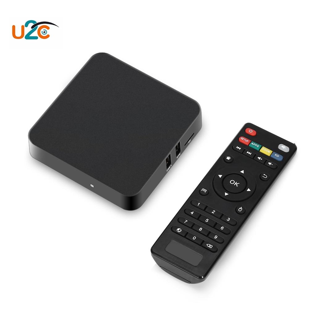 Original U2C Z-Pro Smart Android 7.1 TV Box 2GB RAM+8GB ROM 4K 2.4GHz WiFi Amlogic S905X Cortex A53 HDMI2.0 Set-top Box 2016 new original xiaomi tv box 3 s pro amlogic s905 cortex a53 2 0ghz 1gb ddr3 4gb emmc5 0 android 5 0 4k 3840 x 2160