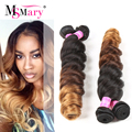 Peruvian Ombre Hair Loose Wave Hot Ombre Human Hair 4 Bundles 3 Tone Weave Ms Mary Peruvian Loose Wave Ombre Peruvian Hair Weave