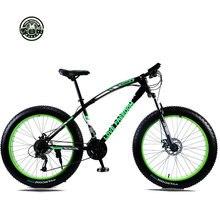 """Высокое качество 7/21/24/27 Скорость 26x4."""" жира велосипед горный велосипед снег Велосипеды шок Подвеска Вилка Bicicleta"""