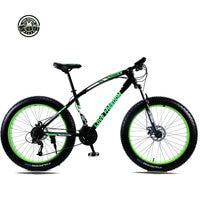 Love Freedom Mountain Bike 7 Speeds, 21Speeds .24 Speeds .27 Speeds Fat Bike 26x4.0 Off road gear reduction Beach Bike
