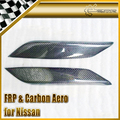 New 2pcs Eyebrow Eye lid For Nissan Z33 350Z Fairlady Carbon Fiber Car Accessories Car Styling