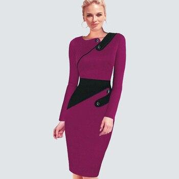 Plus Size Elegant Wear To Work Women Office Business Dress Casual Tunic Bodycon Sheath Fitted Formal Pencil Dress B63 B231